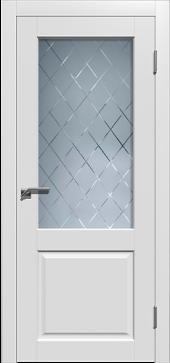 Щитовая дверь  O1 остекленная