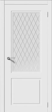Щитовая дверь P2 остекленная